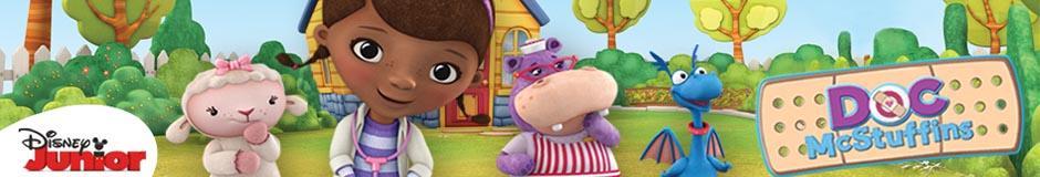 Großhandel für  Doc McStuffins, Spielzeugärztin Kinderbekleidung und Accessoires.